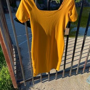 Mustard color dress brand new